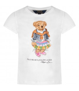 White girl T-shirt with iconic Teddy Bear