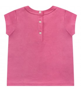 Pink babygirl T-shirt with iconic Teddy Bear
