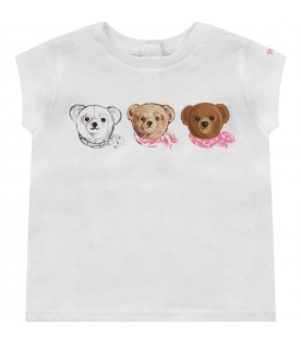 White babygirl T-shirt with iconic Teddy Bear