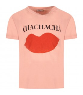 Pink girl T-shirt with lips
