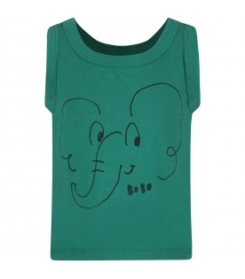 Green boy T-shirt with elephant