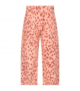 Pink pants with brown spots for girl