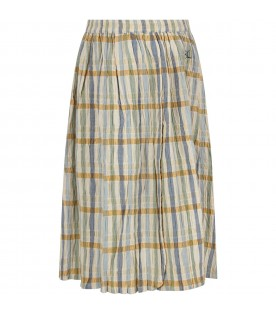 Beige skirt with colorful stripes for girl