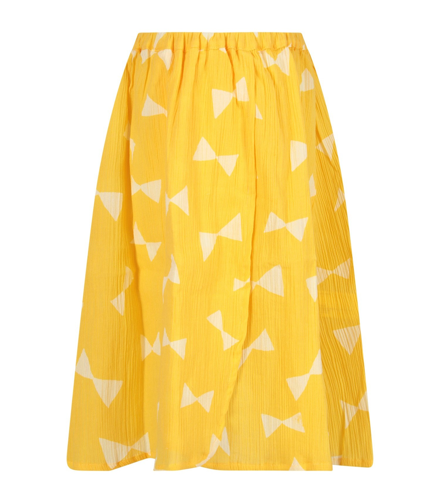 Bobo Choses Yellow skirt with all-over print for girl
