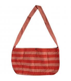 Red bag with stripes for kids