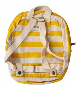 Ivory and yellow kids backpack with elephant