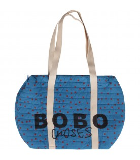 Blue bag with red polka-dots for kids