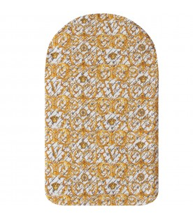 White babykids sleeping bag with gold logo