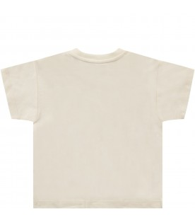 Ivory babygirl T-shirt with apple