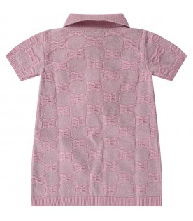 Lilac babygirl dress with iconic GG