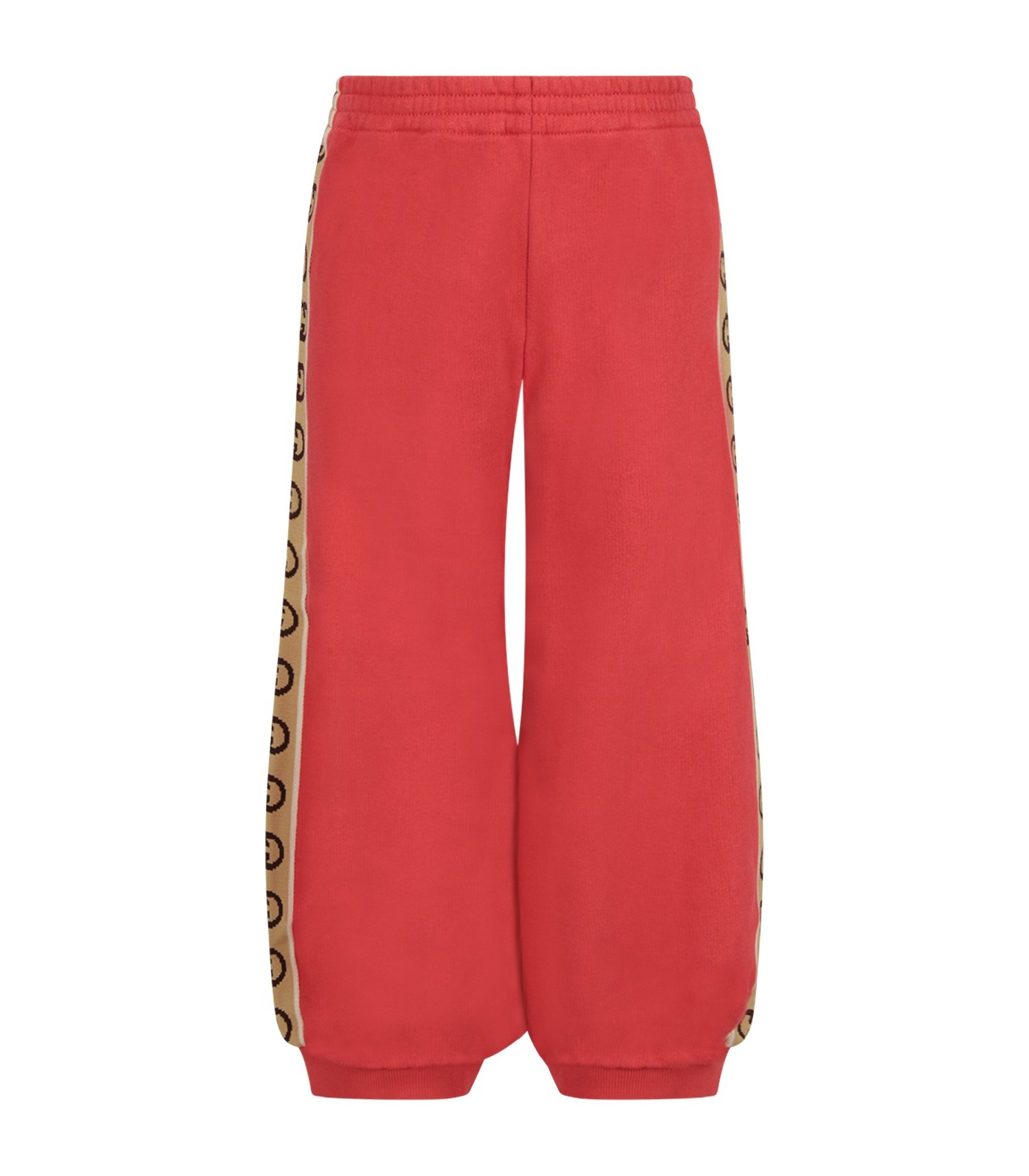 Gucci Kids Red kids sweatpants with double GG