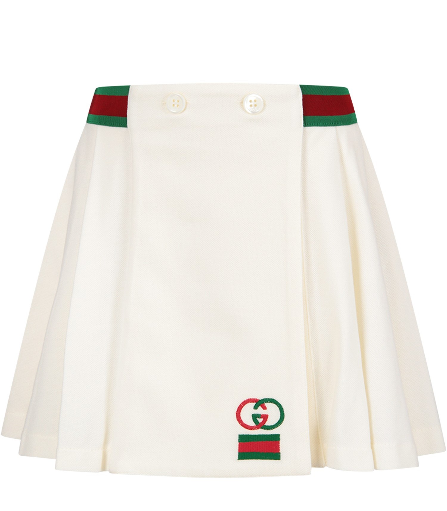 Gucci Kids Ivory girl skirt with double GG
