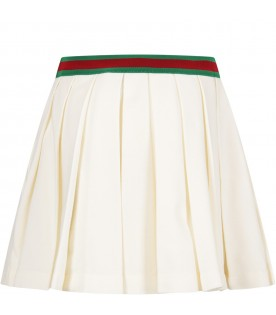 Ivory girl skirt with double GG