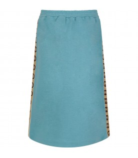 Light blue girl skirt with double GG