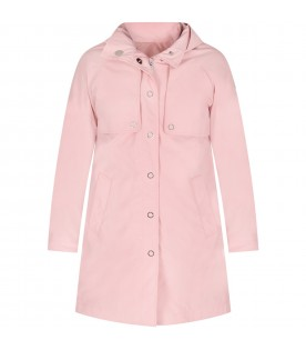 Pink girl jacket with iconic patch