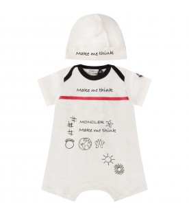 White babyboy suit with logo
