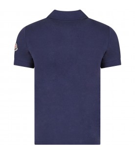 Blue boy polo shirt with logo