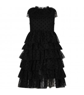 Black girl dress with polka-dots