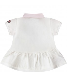 White and lilac babygirl suit with iconic patch