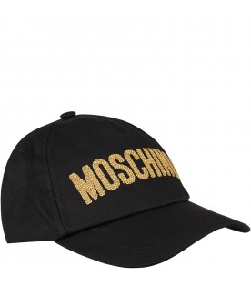 Black girl hat with black gold