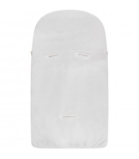 White babykids sleeping bag with logo