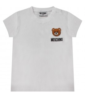 White babykids T-shirt with Teddy Bear