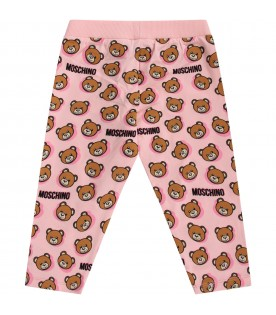 Pink babygirl sweatpants with Teddy Bears