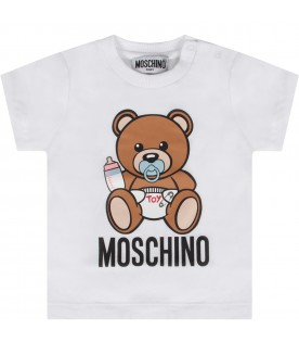 White babykids T-shirt with baby Teddy Bear