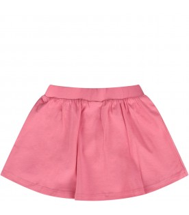 Pink babygirl skirt with baby Teddy Bear