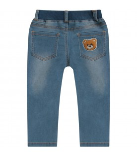 Denim babykids jeans with black logo