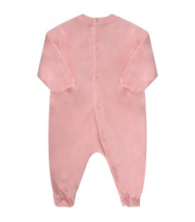 Pink and white babygirl set with Teddy Bear