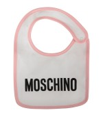 Moschino Kids Pink and white babygirl set with Teddy Bear