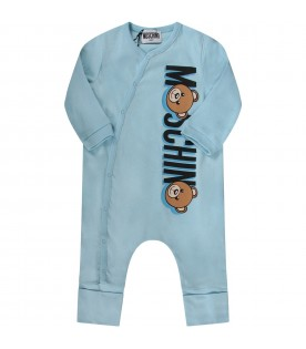 Light blue babyboy babygrow with logo