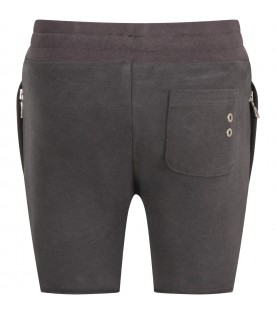 Grey boy pants with iconic eyelets