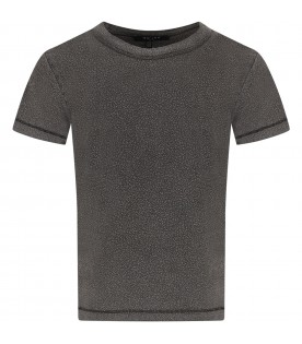 Anthracite grey boy T-shirt with circles