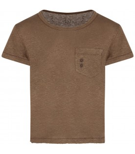 Brown boy T-shirt with circles