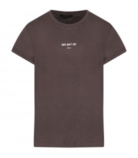 Grey boy T-shirt with holes