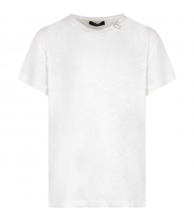White boy T-shirt with piercing