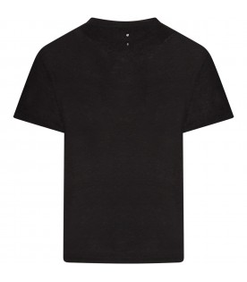 Black boy T-shirt with piercing
