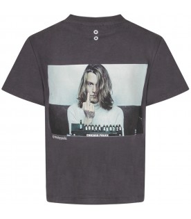 Grey boy T-shirt with Johnny Depp