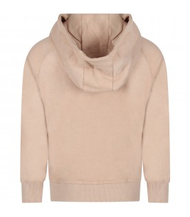 Beige boy sweatshirt with black writing