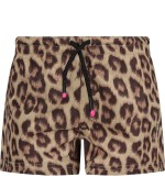 Mouty Paris Beige boy swimsuit with animalier print