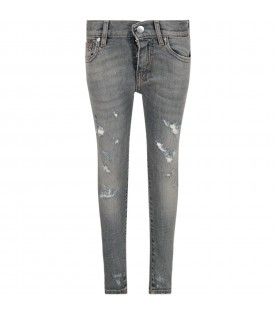 Light blue boy jeans with metallic details