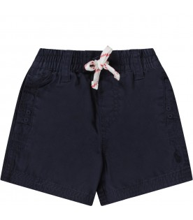 Blue babyboy short with iconic pony