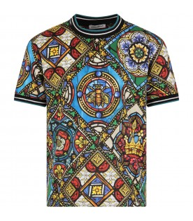 Multicolor boy T-shirt with colorful print