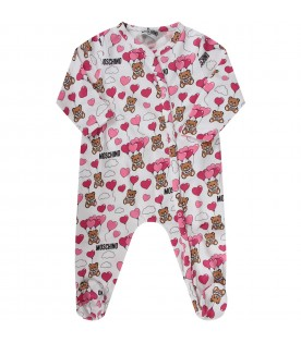White babyboy babygrow with Teddy Bear