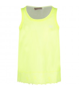 White and neon yellow girl T-shirt
