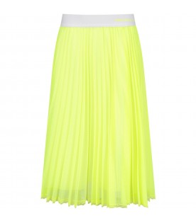 Neon yellow girl skirt