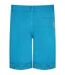 Azure short for boy with iconic patch