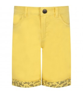 Yellow boy short with iconic patch